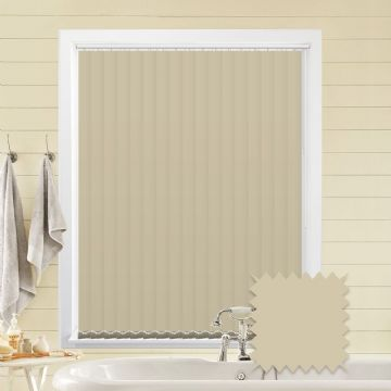 Cream Vertical Blinds | Bella Butter Plain Cream Blackout Vertical Blinds
